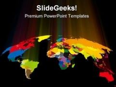 Coloured World Globe PowerPoint Themes And PowerPoint Slides 0411