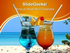 Colourful Cocktails Food PowerPoint Themes And PowerPoint Slides 0411