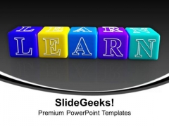 Combination Of Words Forming Learn Cubes PowerPoint Templates Ppt Backgrounds For Slides 1112