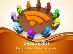 Community Discussion Business PowerPoint Themes And PowerPoint Slides 0511