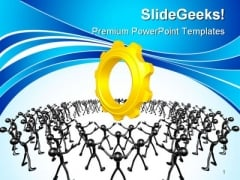 Community Gears Industrial PowerPoint Themes And PowerPoint Slides 0511