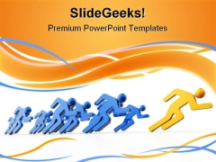 Competition Leadership PowerPoint Templates And PowerPoint Backgrounds 0611
