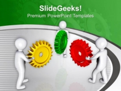 Complete Task With Correct Gears PowerPoint Templates Ppt Backgrounds For Slides 0713