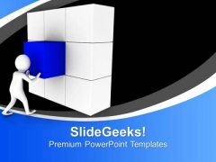 Complete The Blocks Wall With Your Ability PowerPoint Templates Ppt Backgrounds For Slides 0713