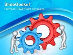 Complete The Task Of Gear Process PowerPoint Templates Ppt Backgrounds For Slides 0713