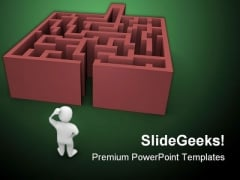 Complicated Maze Business PowerPoint Themes And PowerPoint Slides 0411