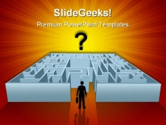 Complicated Maze Business PowerPoint Themes And PowerPoint Slides 0811