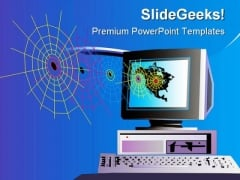 Computer And Web Business PowerPoint Themes And PowerPoint Slides 0211