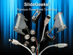 Computer Cables Technology PowerPoint Themes And PowerPoint Slides 0211