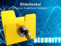 Computer Empty Folder With Key Security PowerPoint Templates And PowerPoint Themes 0712