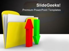 Computer Folder Internet PowerPoint Backgrounds And Templates 0111