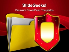 Computer Folder Security PowerPoint Templates And PowerPoint Backgrounds 0211