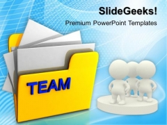 Computer Folder With Team PowerPoint Templates And PowerPoint Themes 1012