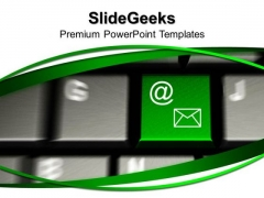 Computer Keyboard With E Mail Key Internet Concept PowerPoint Templates And PowerPoint Themes 1012