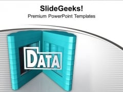 Computer Server With Data PowerPoint Templates Ppt Backgrounds For Slides 0713