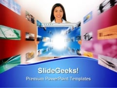 Computer Technology PowerPoint Templates And PowerPoint Backgrounds 0611