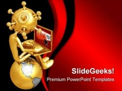 Computer Virus Technology PowerPoint Themes And PowerPoint Slides 0711