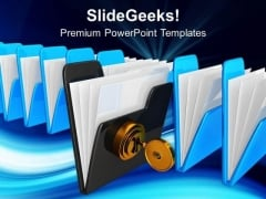 Computer With Key Security PowerPoint Templates And PowerPoint Themes 0712