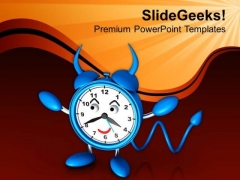 Concept Of Deadline With Evel Alarm Clock PowerPoint Templates Ppt Backgrounds For Slides 0413