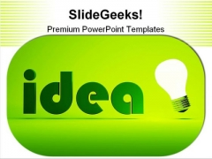Concept Of Idea Business PowerPoint Templates And PowerPoint Backgrounds 0211