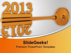 Concept Of Mirror Between Golden Key PowerPoint Templates Ppt Backgrounds For Slides 1212