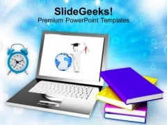 Concept Of Modern Education And Online Learning PowerPoint Templates Ppt Backgrounds For Slides 0213