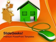 Concept Of Online Buying Real Estate PowerPoint Templates Ppt Backgrounds For Slides 0213