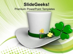 Concept Of Patricks Day Luck Of Irish PowerPoint Templates Ppt Backgrounds For Slides 0313