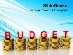 Conceptual Image Of Financial Budget PowerPoint Templates Ppt Backgrounds For Slides 0713