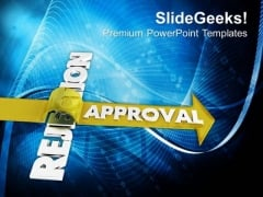 Conceptual Image Of Getting Approval PowerPoint Templates Ppt Backgrounds For Slides 0713