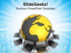 Conceptual Image Of Global Networking PowerPoint Templates Ppt Backgrounds For Slides 0813