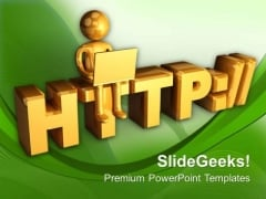 Conceptual Image Of Internet PowerPoint Templates Ppt Backgrounds For Slides 0713