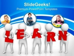 Conceptual Image Of Learning PowerPoint Templates Ppt Backgrounds For Slides 0813
