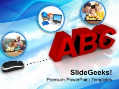 Conceptual Image Of Online Learning PowerPoint Templates Ppt Backgrounds For Slides 0213