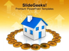 Conceptual Image Of Real Estate And Finance PowerPoint Templates Ppt Backgrounds For Slides 0213