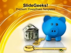 Conceptual Image Of Savings And Investment PowerPoint Templates Ppt Backgrounds For Slides 0113