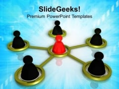 Conceptual Image Of Teamwork PowerPoint Templates Ppt Backgrounds For Slides 0213