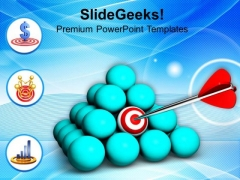 Conceptual Image Target Achieved PowerPoint Templates Ppt Backgrounds For Slides 0813