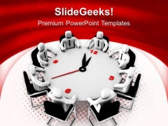 Conference Meeting For Time Business PowerPoint Templates Ppt Backgrounds For Slides 0213