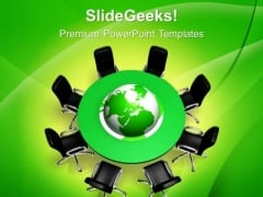 Conference Meeting Global Business PowerPoint Templates And PowerPoint Themes 0712