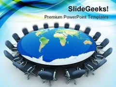 Conference Table Business PowerPoint Templates And PowerPoint Backgrounds 0311