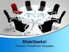 Conference Table With Leadership Concept PowerPoint Templates Ppt Backgrounds For Slides 1212