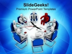 Conference With A Leader Business Concept PowerPoint Templates Ppt Backgrounds For Slides 0513