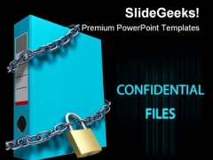 Confidential Files Security PowerPoint Backgrounds And Templates 1210