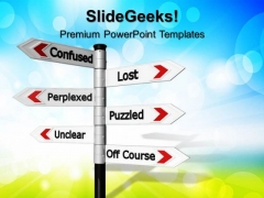 Confused Lost Business PowerPoint Templates And PowerPoint Themes 0712