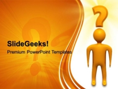 Confused Man Business PowerPoint Templates And PowerPoint Themes 0512