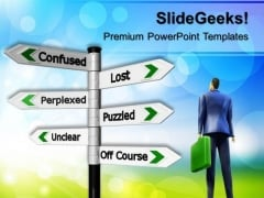 Confused People PowerPoint Templates And PowerPoint Themes 0512