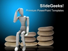 Confused Person Finance PowerPoint Templates And PowerPoint Backgrounds 1011