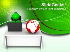 Connect Your Business With Global Economy PowerPoint Templates Ppt Backgrounds For Slides 0713
