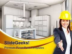 Construction Architecture PowerPoint Themes And PowerPoint Slides 0711